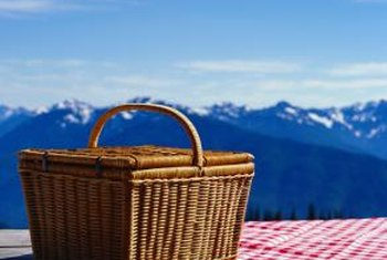Fresh air helps remove the odor from musty wicker.