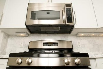 Replacing your range hood with a microwave frees up valuable counter space.