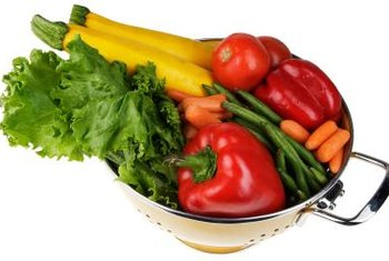 Fruits and vegetables contain vitamin C, which is important for strong artery walls.