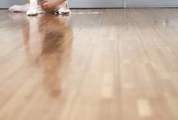 Sanding and finishing a new oak floor can produce a glass-like surface.