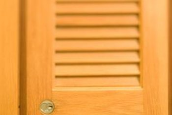 Louvered shutters make ideal cabinet doors.