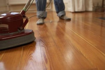Buffing your wood floors after finishing them imparts an impressive sheen.