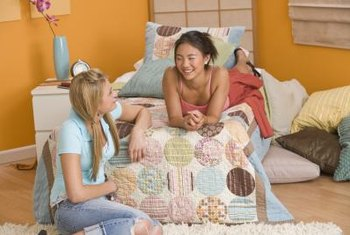 Teens often want bright colors and comfortable furnishings in their bedrooms.