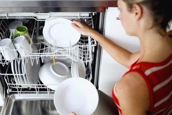 Fill the gap between a dishwasher using filler pieces.