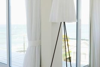 Curtains over a doorway provide privacy, filter light and soften a space.