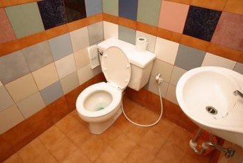 It is entirely possible to create a major design fail by overthinking the bathroom walls.