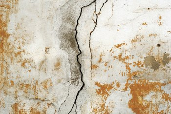 Jagged wall cracks might be a sign of a serious problem.