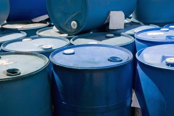 Plastic barrels are recyclable as long as you clean them thoroughly.
