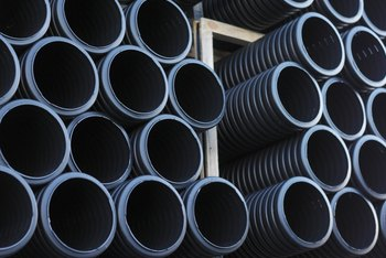 Plastic pipes are one of the components of the drainage system.