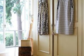 Genial Add Hooks To Closet Doors For A Display Of Wearable Art.