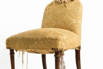 Both the fabric and the method used to attach it are concerns when tackling a chair upholstery project.