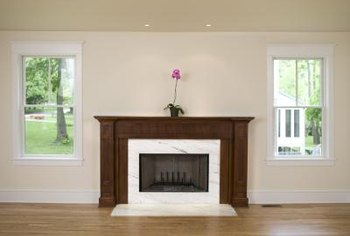 Seal off an unused fireplace to keep heat in the home.