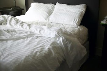 The soft and silky feel of sheets depends on fabrics and weave.