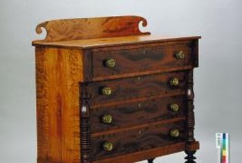 Household items and dry conditions remove odors from old dressers.