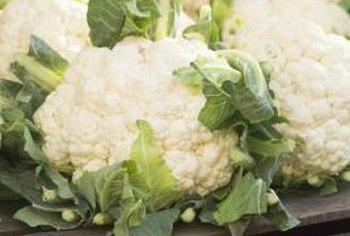 Blanching gives cauliflower its creamy white color.