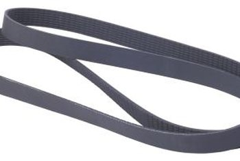 Rubber belts may stretch and tear over time.
