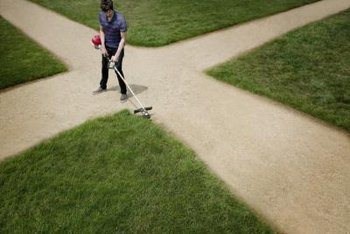 A trimmer helps maintain clean yard edges.