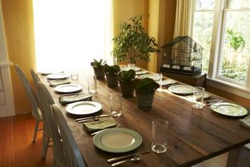 Clear lacquer can enhance the look of your natural wood table.
