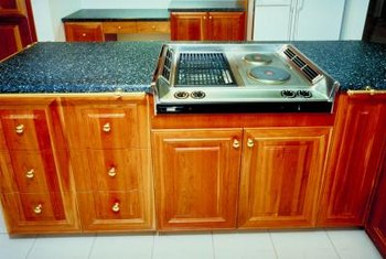 Chips in an Ubatuba countertop can be reattached with an epoxy resin.