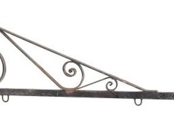 "A decorative planter bracket is a ""tent pole"" for a scarf canopy."