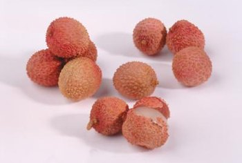 The easy-to-peel rind of the lychee turns from green to red when the fruit is ripe.