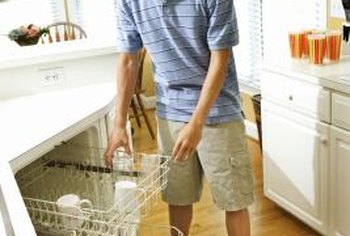 Use a hand truck to remove a dishwasher on hardwood.