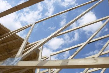 Trusses are manufactured according to the size of a particular building or room.