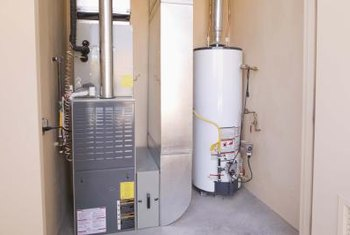 A solid concrete floor provides a strong base for your water heater and furnace.