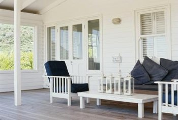 Repaint or stain your porch annually for best results.