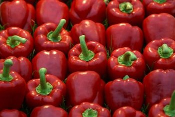 Bell peppers need calcium to develop properly.