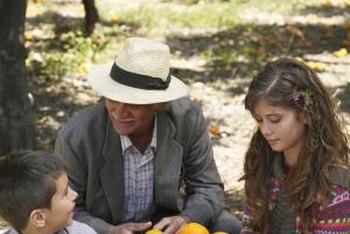 Winter harvesting of oranges is shared by generations of fruit growers.