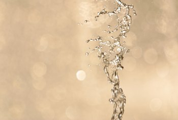 Both air and water pressure are key components of gravity fountains.