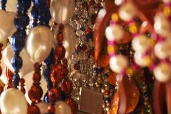 Repurpose beaded necklaces as decorative accents for your home.