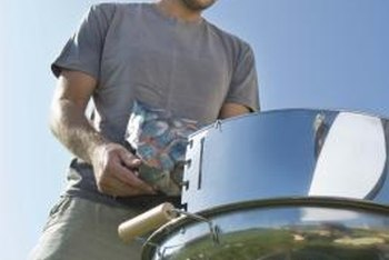 Paint a gas grill with heat-resistant paint.