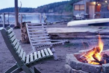 Use stackable stones to form your fire pit.