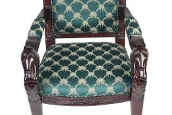 Square cushions are installed in most chairs.