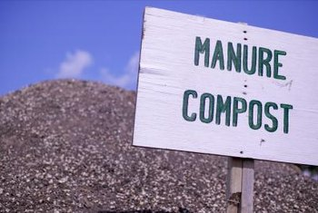 Manure and compost have high levels of nitrogen.
