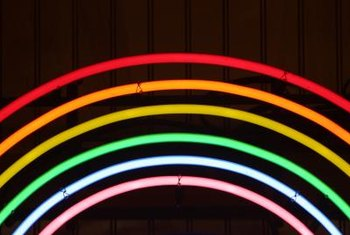 Neon colors enjoyed popularity during the 1980s.