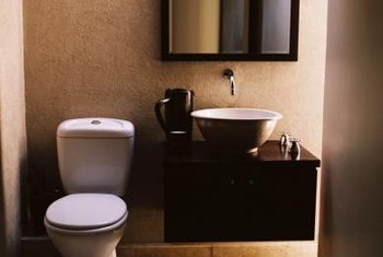 The toilet and sink often share the same waste line.