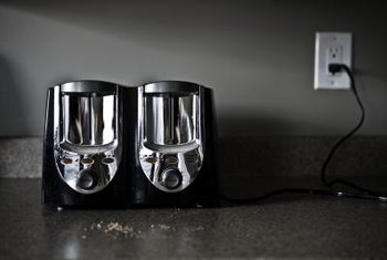 Keep kitchen counters empty and cord free by putting away appliances when they're not in use.