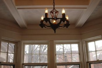 A basic coffered ceiling is a simple way to add architectural interest to a room.