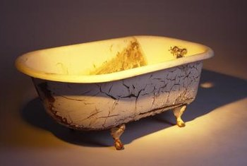 Old tubs were cast from porcelain, steel or iron.