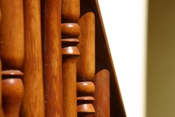 Balusters are part of a staircase handrail system.