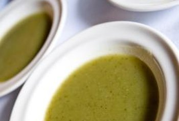 Split pea soup can be frozen in serving-sized portions.