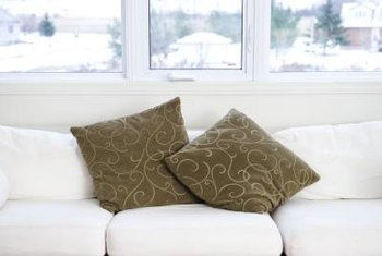 Dry your couch cushions by hand to minimize damage.