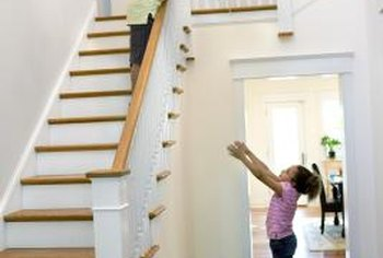 New stair railings will upgrade the look of your home.