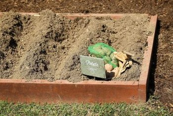 Raised bed edging can be simple or ornate.