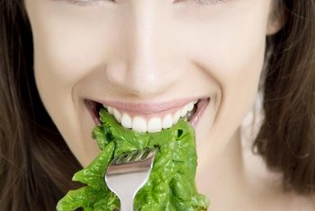 Eating certain foods, like spinach, gives you iron naturally.