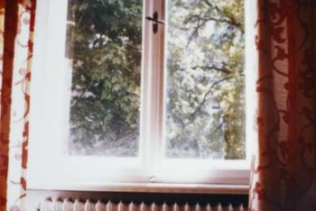Heat can escape through unnoticeable cracks in the window.