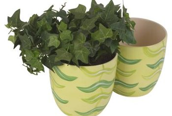 A decorative pot can conceal a plain pot that has drainage holes.